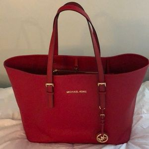Authentic Michael Kors red tote